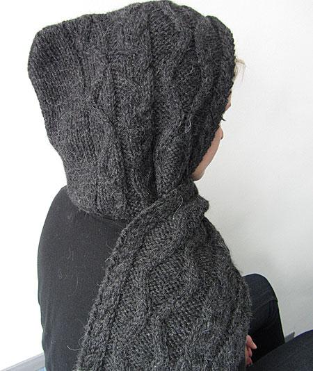 Kapuzenschal, hooded scarf