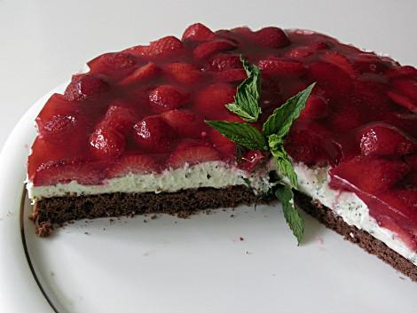 Erdbeer-Minzcreme-Torte